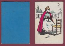 Carte à jouer ancienne XIXe - 301113 - 5 tricotteuse