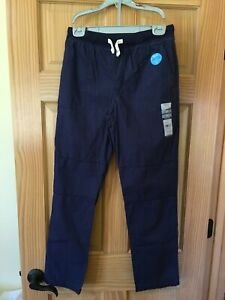 NWT Carter's Boys Pull-On Play Proof Pants Navy Blue Reinforced Knee many sizes