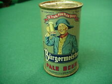 *Light Blue Jacket* Early '50s Burgermeister Flat Top Beer Can San Francisco, Ca