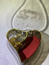 Sankyo Heart Shaped Music Jewelry Box Vintage 60s Works! Made In Japan