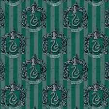 Camelot Fabric Harry Potter Slytherin House PER METRE Digitally Printed Licensed