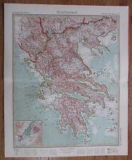 1926 GRIECHENLAND Greece Grèce Kupferstich alte Landkarte Karte Antique Map