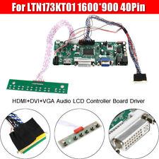 40Pin 1600*900 HDMI+DVI+VGA Audio LCD Controller Board Driver For LTN173KT01