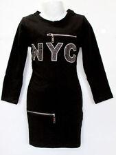 Robes noir coton mélangé pour fille de 2 à 16 ans
