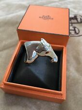 HERMES GALOP RING STERLING SILVER CHAIN SIZE 52 CDC KELLY DOG COLLIER CLIC