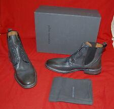 NIB JOHN VARVATOS COLLECTION Norvegian Laceless Chelsea lead leather boots 8/41