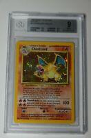 Pokémon Base Set Unlimited  Dutch Charizard 4/102 - Vintage Graded BGS 9 Mint