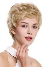 WIG ME UP Perücke Damen Herren Echthaar kurz wellig modisch blond NG-HH-13-22