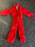 VINTAGE PALITOY ACTION MAN RED ZIPPED JUMP SUIT VGC FOR AGE