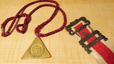 Vintage Odd Fellows Pendant & Other Ribbon Historical Fraternal Organizations