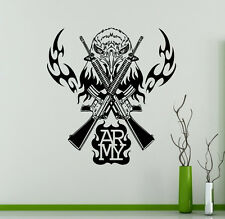 Army Emblem Wall Vinyl Decal Military Vinyl Sticker Armed Forces Home Interior 7