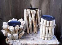 NEW DESIGN Driftwood Candle Holder 24 / 12  / 14 cm Home Decoration Variants