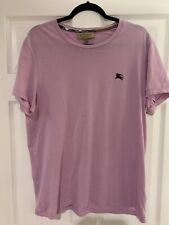 Burberry Mens Short Sleeve CrewNeck T Shirt Pink Size Large