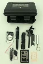 Survival Kit With Flashlight, Tactical Pen, Knife, Multifunction Tool, Compass