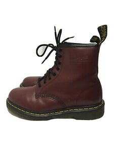Dr. Martens Men's Smooth Leather 8-Eye 1460 Boots Maroon Size 7 Women's 8