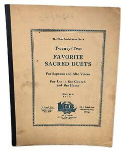 SHEET MUSIC BOOK Twenty-Two Favorite Sacred Duets No. 4