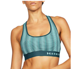 Under Armour Women's Armour Mid Crossback Patterned Sports Bra Sz Small