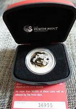 "1 Oz gilded Lunar II silver coin 2012, Dragon with CoA + coinbox ""rare"""