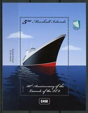 Marshall Islands 2017 MNH QE2 QEII Launch 50th Anniv 1v M/S Cruise Ships Stamps
