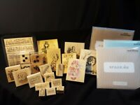 BIG LOT RUBBER STAMPS STAMPIN' UP CLOSE TO MY HEART CRAFTING  WOOD MOUNTED LOOSE