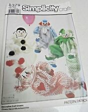 8379 Simplicity Sewing Pattern Set of clowns Toy clowns inc transfers-Height 20""