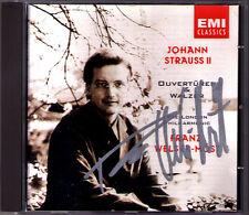Franz WELSER-MÖST Signed Johann STRAUSS Künsterleben Kaiser-Walzer Fledermaus CD