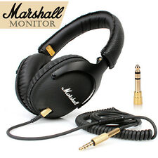 New Original Marshall Major Monitor Bass Stereo Hi-Fi Headphones Headset - black