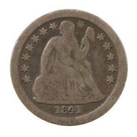 Raw 1841-O Seated Liberty 10C Uncertified Ungraded New Orleans Silver Dime Coin
