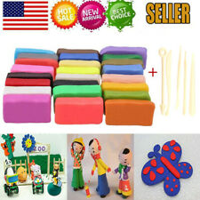 32 Blocks Polymer Clay Set Colorful DIY Soft Craft Oven Bake Modelling Clay Kit