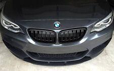 BMW 2 Series F22 F23 F87 M2 Matte Black Kidney Euro Front Sport Hood Grill 2014+