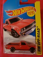 2014 Hot Wheels Datsun 620 pickup truck #139 red HW Off Road