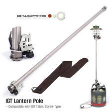G Works IGT Gas Lantern Pole Screw Type Super Duralumin 510g 840mm Long Camping