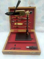 Fly tying vice and 14 tools . Fly tying kit, Fly Tying Materials