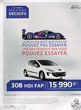 Publicité advertising 2010 Peugeot 308 HDi FAP
