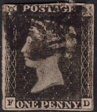 1840 Großbritannien Nr. 1 Penny Black FD gest. Malteserkreuz schwarz Mi. 300,-