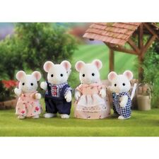 *NEW* SYLVANIAN FAMILIES 4121 White Mouse Family - set of 4 - Adults 8cm