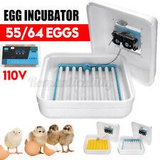 55 Eggs Incubator Temperature Control Automatic Turning/Chicken Hatcher Digital