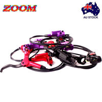 ZOOM MTB Bike Hydraulic Disc Brake Front Rear Calipers Rotors Disc Brake Set AU