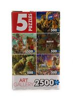 Sure-Lox Photo Gallery Scenic Jigsaw Puzzles- Boxed Set of 5-Each 500 Pieces