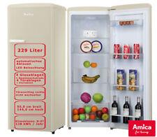 Amica Vollraumkühlschrank Beige 229L automatisches Abtauen Retro Design