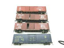 lot of 4 Athearn 50' box cars B&O, Prr #47142,481214, 471100,74002 no box (1)