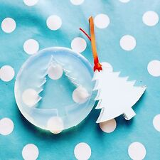 SILICONE CHRISTMAS TREE MOLD - 60mm Jewellery Decoration Resin Shape Mould