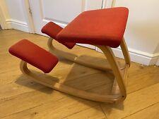 Varier Balans Kneeling Chair Red Orthopaedic Back Spine Stokke