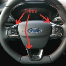 Ford Focus ST 2018 2019 2020 MK4 Carbon Fibre Look Steering Wheel Trims. UK