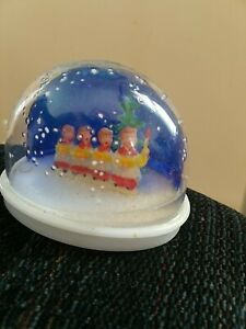 Vintage Christmas Boy Choir Carolers Snow Globe Hard Plastic Hong Kong