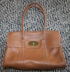 Mulberry Heritage Bayswater Oak Tan Leather Satchel Bag