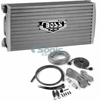 Boss AR4000D 4000W Monoblock Armor Series Class D Car Amplifier + Amp Kit