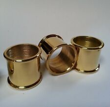 3 mixed BEADED BRASS COLLARS for Walking Stick Making 25mm, 26mm & 27mm diameter