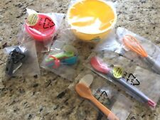 American Girl Gourmet Kitchen Measuring Cups & Spoons Whisk Bowl Miniature Doll