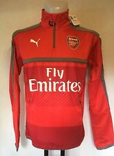 Arsenal 2016/17 Rouge 1/4 Zip Training Veste Par Puma Taille Adulte Large Neuf